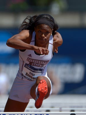 Mississippi State's Erica Bougard won the SEC Championship in the heptathlon on Friday.