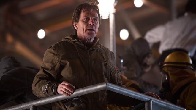 """This film image released by Warner Bros. Pictures shows Bryan Cranston in a scene from """"Godzilla."""" (AP Photo/Warner Bros. Pictures, Kimberley French)"""