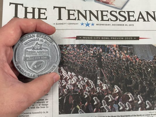 Franklin American Mortgage Music City Bowl coin