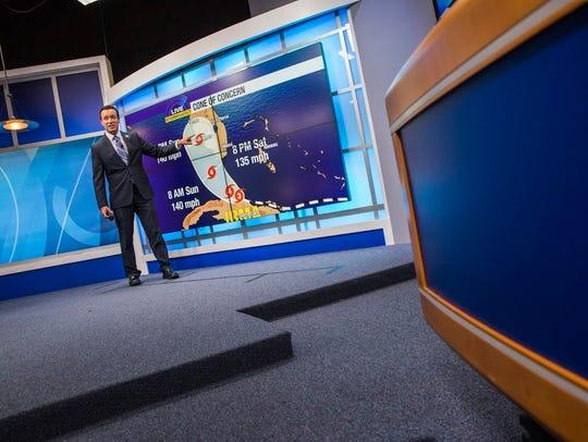 ABC-7 chief meteorologist John Patrick followed Hurricane