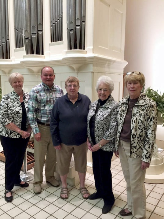 York County Heritage Trust Auxiliary names new officers: The York County Heritage Trust Auxiliary has announced new officers for the 2015-16 year. They are from left, Judi Snyder,membership chair; David Henry, vice president; Elizabeth Knaub, corresponding secretary; Louise Marx, treasurer; Karen Wix, president. Not pictured: Joan Beekey, recording secretary. The York County Heritage Trust Auxiliary provides support, service and financial underwriting to the York County Heritage Trust. The Auxiliary operates signature events including Fastnacht Day, Mother's Day Ice Cream Parlor and the Annual Turkey Trot among other events and programs.