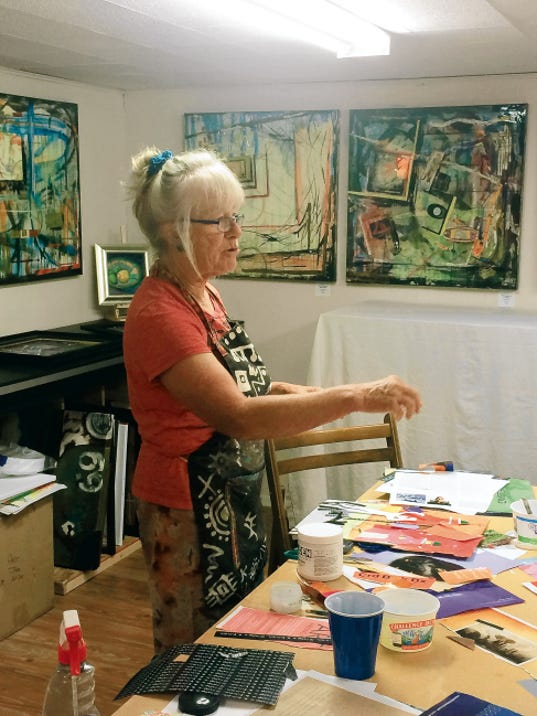 Local artist Suzy Goza supports The Nest with her work.