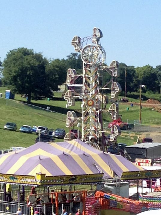 The Zipper amusement ride is pictured at Shippensburg Community Fair.