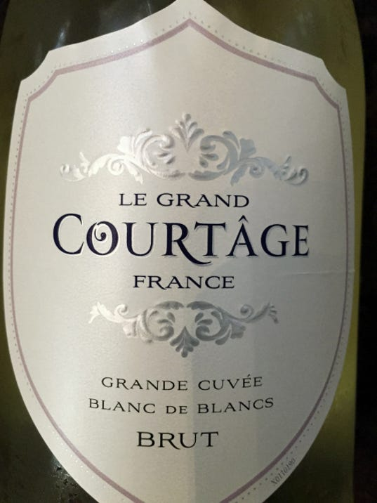 Le Grand Courtâge Grande Cuvée Blanc de Blancs Brut isn't considered champagne, because it isn't made in that region of France. Submitted