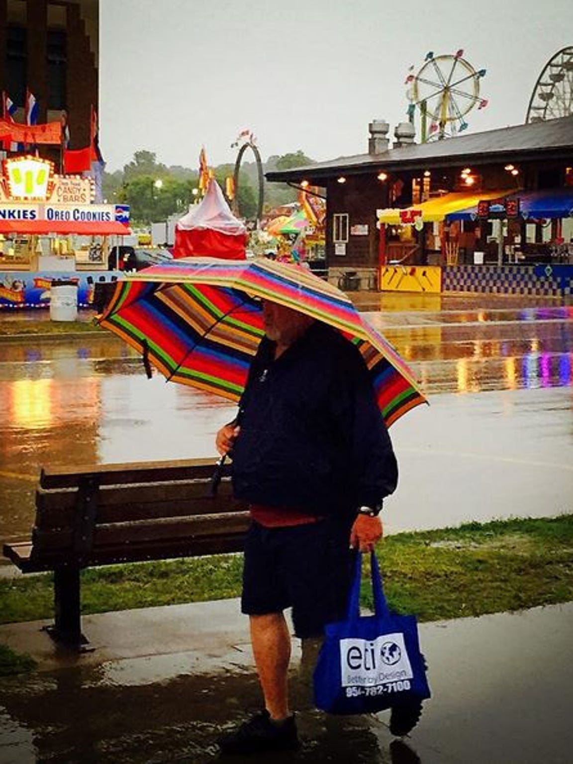 You might get a little wet today at the Iowa State Fair.