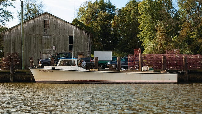 A workboat at Turner's Landing, on Turner's Creek off the Sassafras River, which has survived by adapting over the centuries to the tides of change on land and in the water.