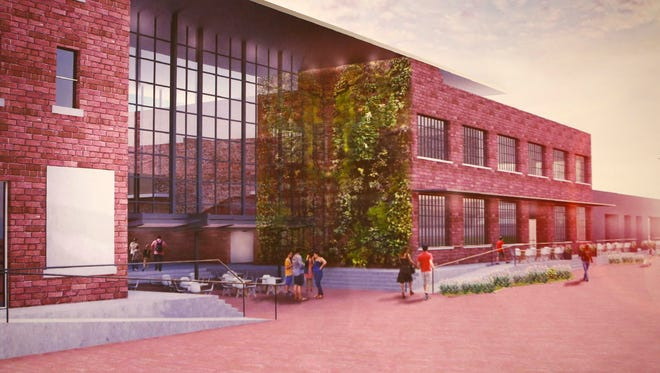 An illustration of what a portion of the Paristown Pointe Arts and Culture District will look like.