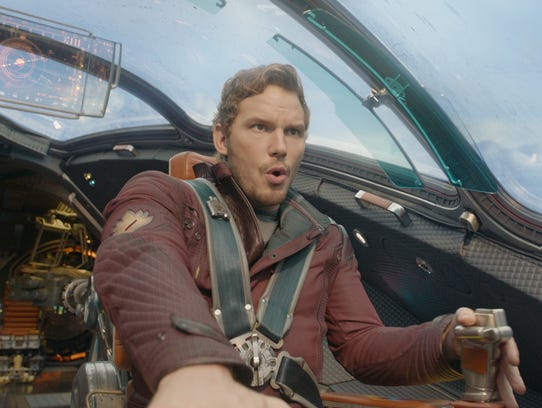 "Chris Pratt stars in ""Guardians of the Galaxy"" (2014)."