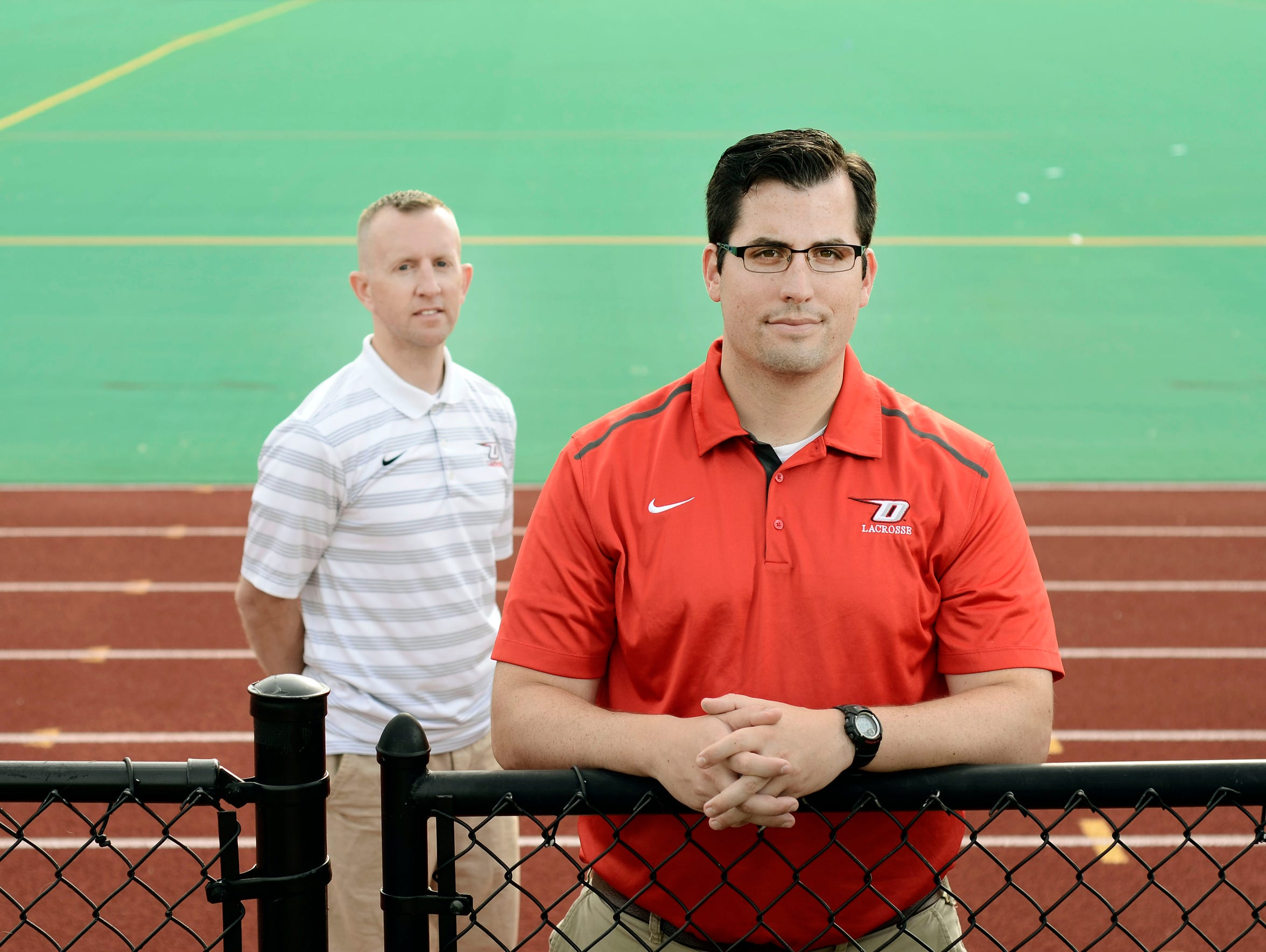 Dan Mahar and Andrew McIntosh, now coaching together,