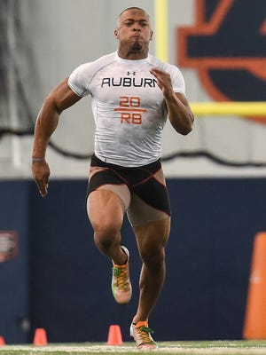 Corey Grant ran an unofficial 4.26 seconds in the 40-yard dash.