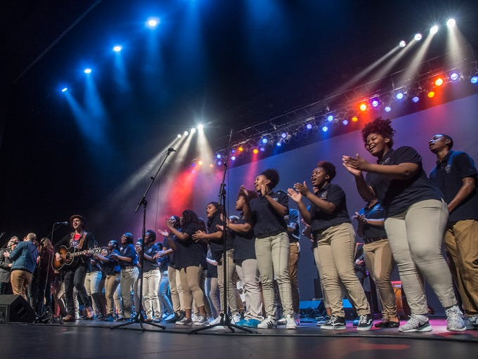 Booker T. Washington Magnet High School choir perform