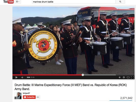 Marines Face Off Against South Korean Troops In Epic Drum Battle