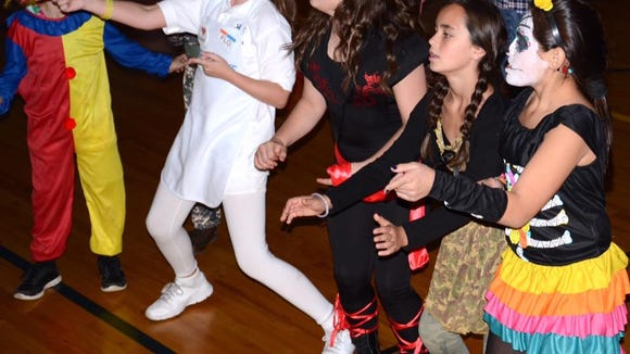 St. Rita School fifth graders get into the groove. (Provided photo)