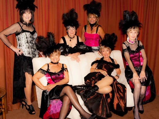 Some of the Mesquite Showgirls attend the  Cowboy Poets