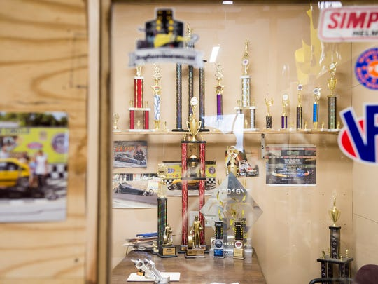 Bailie Zepp's collection of trophies are displayed
