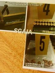 Photos of the ammunition.