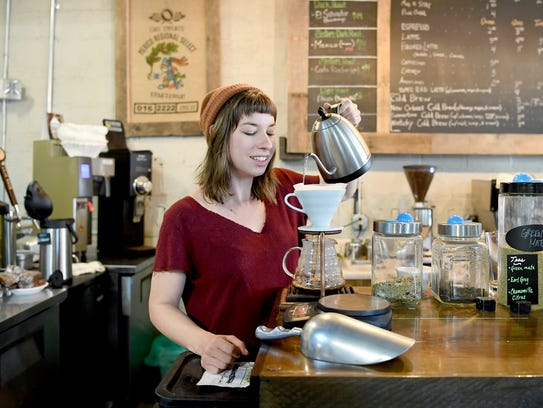 Christine Owensby demonstrates how to do a pour-over