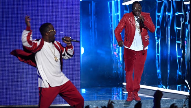 """Sean """"Diddy"""" Combs, left, and Ma$e perform at the BET Awards at the Microsoft Theater on Sunday, June 28, 2015, in Los Angeles."""