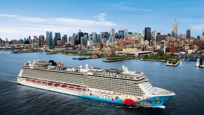 9. Norwegian Breakaway, built by Norwegian Cruise Line in 2013, measures 146,600 GT and carries 3,988 passengers at double occupancy.