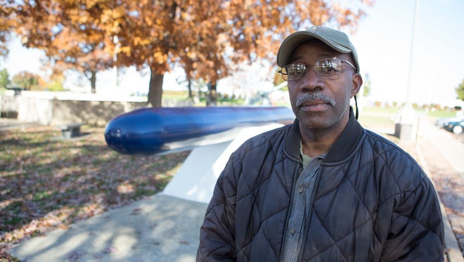In this 2013 file photo, Elkhart, Ind., veteran Clinton Suggs shares his story of being in the military, in South Bend, Ind.