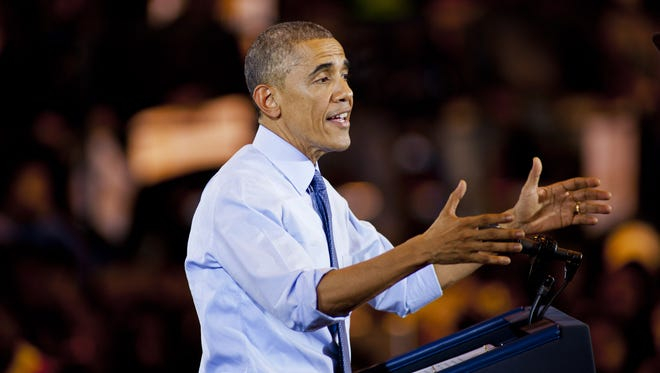 President Obama during a campaign event this week in Wisconsin.