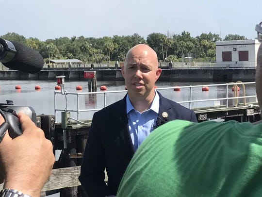 U.S. Rep. Brian Mast, R-Palm City, talks Wednesday,
