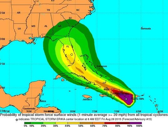 Tropical Storm Erika