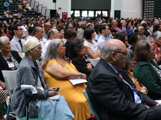 Hundreds of community members and families attended