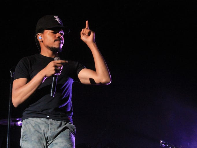 Chance the Rapper performed for an energetic crowd