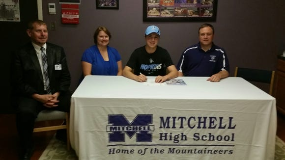 Mitchell senior Solomon Duncan has signed to wrestle in college for Johns Hopkins.