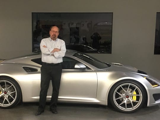 Steve Saleen shows off his latest creation, the S1