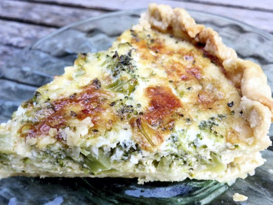 Broccoli gives this quiche a strong flavor, and it needs an equally strong cheese for balance. An aged cheddar is just the thing.