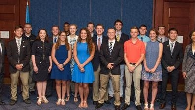 On Tuesday, June 13, 2017, U.S. Senators Tom Carper and Chris Coons and Rep. Lisa Blunt Rochester (all D-Del.) congratulated students accepted into U.S. Service Academies during a reception in the U.S. Capitol Visitor Center.