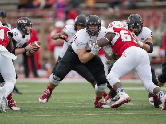 Former Green Bay Southwest and Northern Illinois University offensive lineman Max Scharping was selected by the Houston Texans in the second round on Friday night.