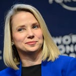 Yahoo CEO Marissa Mayer on Ja. 22, 2014 during a panel session of the 45th Annual Meeting of the World Economic Forum (WEF)  in Davos, Switzerland.