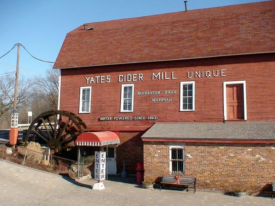 Yates Cider Mill makes their cider on-site