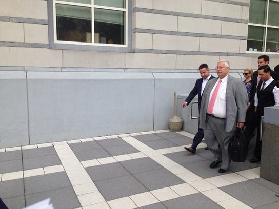 The Situation leaving the courthouse