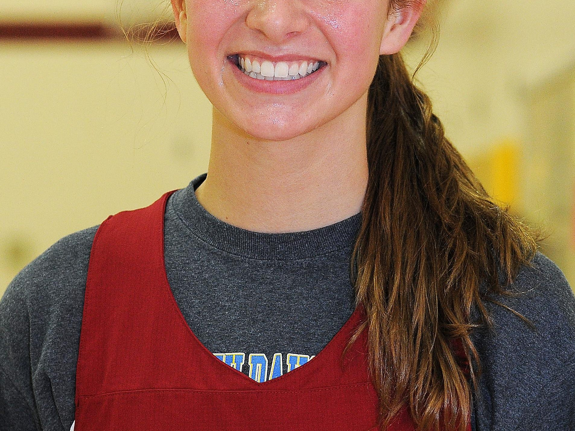 Roosevelt's Tagyn Larson during a practice on Thursday, Dec. 11, 2014, at Roosevelt High School in Sioux Falls, S.D.