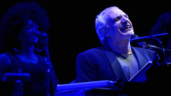 Donald Fagen of Steely Dan performs onstage during the 2015 Coachella Valley Music & Arts Festival in Indio, California.