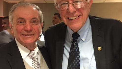 Dr. Yahya Basha and other Arab-American leaders met with Bernie Sanders in Dearborn on  Monday, March 7, 2016, the day before Michigan's presidential primary.