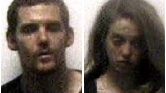 Matthew Neal McCullough, left, and Tiffany Marie Brainard, right, were both charged with a handful of felonies after leading authorities on a chase Tuesday morning.