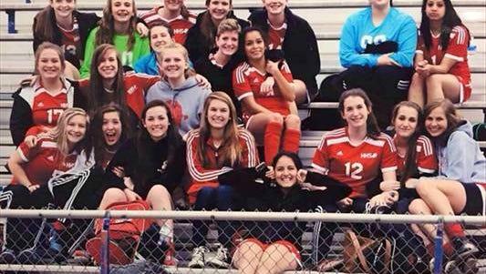 The Hendersonville girls soccer team.