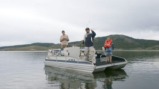 A group fishes at Panguitch Lake.
