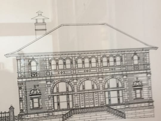 The second design of the Customs House, rejected as