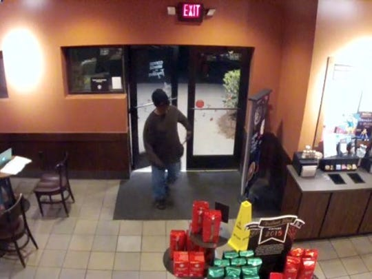 Tallahassee Police say this man robbed three business, including this Starbucks on Nov. 25