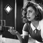 """Lady Gaga trades in her meat dress for a waitress uniform in """"Sin City: A Dame to Kill For."""""""