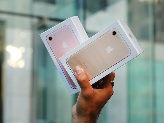 Apple's iPhone 7 on sale in New York