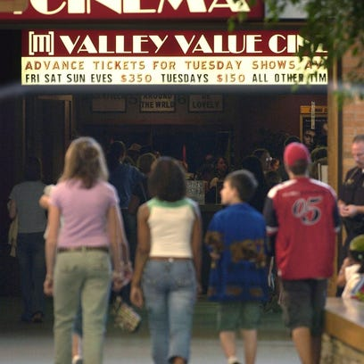 A group of young people head to Valley Value Cinema