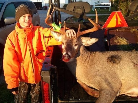 Brent Haberli, 13, dropped this 9-point, 180-pound