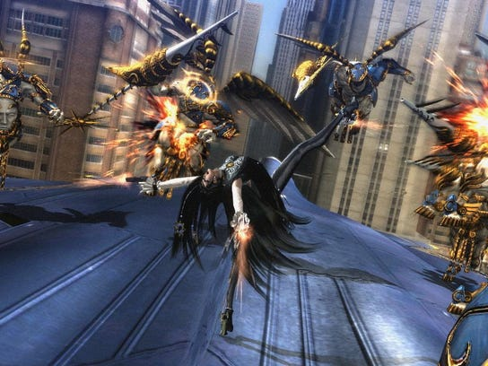 """The freeform combo system in """"Bayonetta"""" allows players to fire off powerful attacks with ease."""